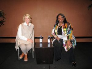 Here I am with Phyllis Hill Slater, President of Hill Slater Group and Chairperson of the Board of Directors of the National Women Business Owners Corporation. She was the conference moderator, and the one who conducted my interview.