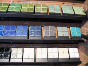 Pewabic Pottery is a ceramic studio and school. Founded in 1903, the studio is known for its iridescent glazes, some of which grace notable buildings. I've used many tiles for Skylands, my home in Maine.