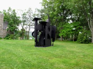 Just outside the Museum Building is Louise Nevelson 'City on the High Mountain', 1983 - an assemblage of black-painted steel sourced from models for different sculptures she had created several years earlier.