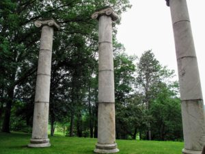 These are the Ionic Columns from the Armstrong Mansion at Danskammer Point, New York.