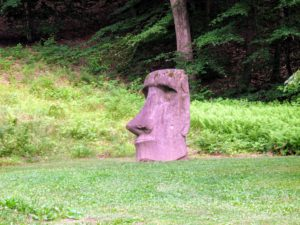 This is by an unknown artist - Easter Island Head (Reproduction), 1970.