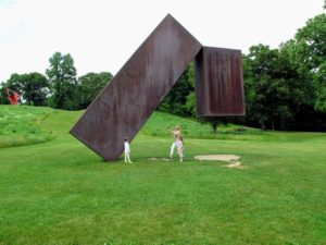 One of the children's favorites was Menashe Kadishman's 'Suspended', 1977. This massive scale of steel work appears to be floating in mid-air.