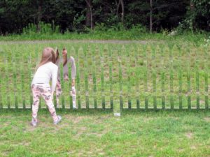 Jude loved Alyson Shotz's 'Mirror Fence', 2003 (refabricated 2014).