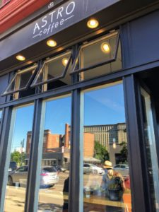 Astro Coffee is a small café located in the historic Corktown neighborhood of Detroit. It offers a variety of roasters and producers that change frequently depending on seasonality and availability.