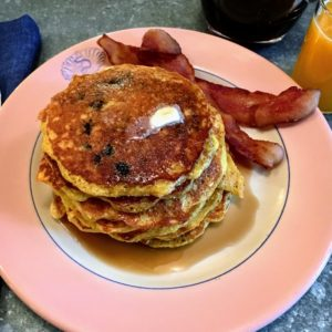 And, of course, along with each stack of pancakes, a side of bacon. (Photo by Kate Berry)