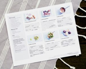 All the easy to follow instructions are printed on the back of these large recipe cards, with clear photos of every step of the process. (Photo courtesy of My Subscription Addiction)