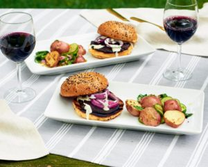 The Martha & Marley Spoon summer grilling giveaway is on right now. It's a chance to win a month of dishes, such as Portobello Mushroom Burgers. This is served with one of my Martha Stewart Wine Co. favorites, 2016 Cuvèe Joëlle Malbec et Merlot. (Photo courtesy of My Subscription Addiction) http://marthastewartwine.com/products/2016-cuvee-joelle-malbec-et-merlot