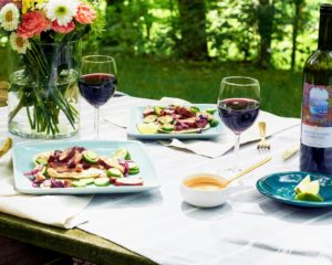 This summer, Martha & Marley Spoon is also offering at least one grilling idea each week. This is Grilled Berkshire Pork served with another of my Martha Stewart Wine Co. favorites - 2015 Cala de Poeti Montepulciano D'Abruzzo D.O.C. (Photo courtesy of My Subscription Addiction) http://marthastewartwine.com/products/cala-de-poeti-montepulciano-dabruzzo.