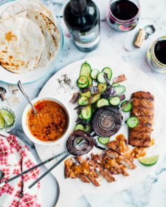 And here is our Spiced Grilled Pork Tenderloin with Peanut Sauce and Cucumber Salad. Plus, some Cala De Poeti. (Photo courtesy of Foodess) http://marthastewartwine.com/products/cala-de-poeti-montepulciano-dabruzzo