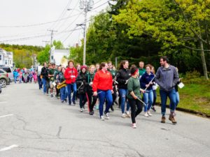 This is the Main Street of Northeast Harbor. Northeast Harbor is a village on Mount Desert Island, located in the town of Mount Desert in Maine. I love attending the annual Memorial Day parade every year.