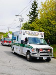 There is always an ambulance, or two, in the parade.