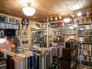 The book shop is one of our favorite stops - so many old and rare books.