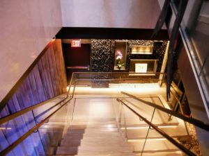 To get to the main 187-seat dining room, guests descend this beautiful staircase.