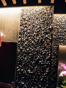 The rock wall is so pretty, and shows Nobu's love for natural style influences.