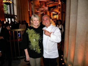 Chef, restaurateur and author, Nobu Matsuhisa, and I, always enjoy catching up. He's been on my television shows numerous times to share his excellent recipes. It is always an honor to see him and to dine at one of his restaurants. Here we are at Nobu Downtown, which replaces the smaller TriBeCa flagship. http://www.noburestaurants.com