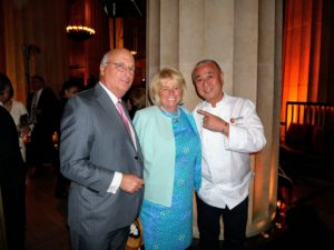 Here is Nobu posing for a quick snapshot with my friend, Jane Heller, and her husband, Steven Gerard.
