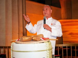 Nobu welcomed all the guests and spoke affectionately about his restaurants and his excitement for Nobu Downtown.