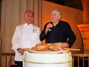 Here are Nobu and co-owner, Robert De Niro, who also reflected on the nearly 23-years since the TriBeCa flagship restaurant was first opened.