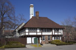 After my appearance at the conference, we stopped by the Pewabic Pottery store - one of my favorite shops. This is the front of the pottery building - designed and built for Pewabic Pottery in 1907. The architect was William Buck Stratton. And, today this building is a historic landmark maintained by Pewabic. http://www.pewabicstore.org/ (Photo courtesy of Pewabic)