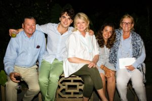 Ben, Will, myself, Charlotte and Bonnie - what a great celebration. (Photo by Meredith Heuer)