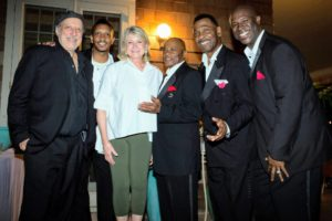 I took this photo with The Drifters after their performance. (Photo by Meredith Heuer)