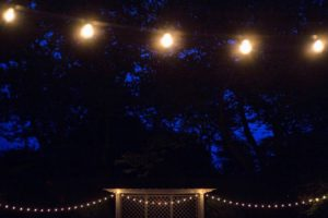 Here's a view of the front circular lawn - such a beautiful night. Happy birthday, Ben and Bonnie. (Photo by Meredith Heuer)