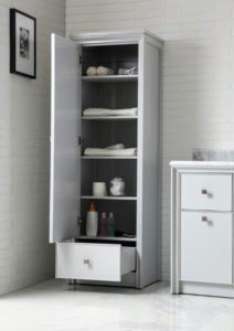 This is the Tall Side Unit in Dove Gray - a great addition for a master bath, or any space needing extra storage. goo.gl/544xWb