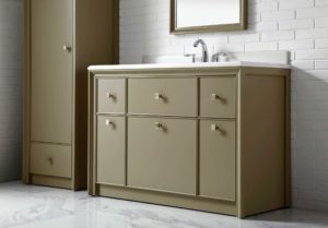 The third color in my Parrish Collection is Mushroom – a beautiful earth tone that's warm and inviting. This is the 60-inch vanity. goo.gl/53Bpfi