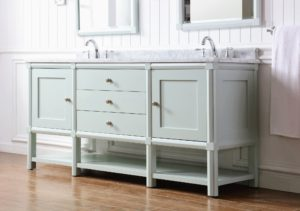 The Sutton Collection combines simplicity with tradition. The collection is available in three beautiful colors. Here is the 72-inch Vanity in the color Rainwater. goo.gl/sMN2VY