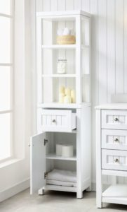 A perfect companion to any item in the Seal Harbor Collection is the Tall Side Unit - beautifully designed to adapt to any space. It features a base and top hutch which can be used together or separate.