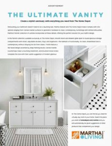 This ad showing my new, beautiful 60-inch Parrish Bath Vanity and Mirror exclusively at The Home Depot is featured in the July issue of Architectural Digest. http://www.architecturaldigest.com