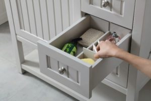 The drawers also feature customizable dividers, so everything is organized the way you want it.