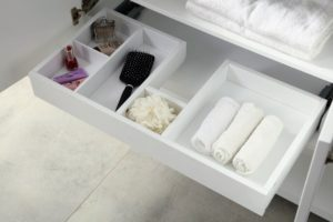 And each drawer is fitted with dividers to keep everything neat and tidy.