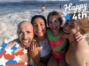 Here is our video creative director, Anduin Havens, with her fiancé, Cedric, his daughter Maina, and Anduin's daughter, Harper. They are having a great time at New York's Jones Beach.