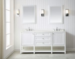 The 72-inch vanity features two undermount sinks – perfect for a master bath.