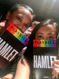 Here are Gianella and Guen holding their playbills - they had a great time.
