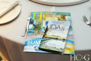 The event is hosted every year by HC&G. A magazine and a pamphlet about the IDAs were placed on every chair. (Photo by Richard Lewin for HC&G)