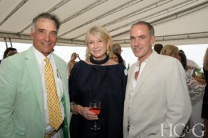 Charlie Marder, owner of the well-known Bridgehampton landscaping and gardening business, Marders, and Kendall Constrom, HC&G Editor in Chief, joined me for a quick photo. (Photo by Richard Lewin for HC&G) http://www.marders.com