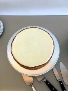 "Here is the gâteau nuage cake. Gâteau nuage translates to ""cloud cake"". This version of the classic cheesecakes offers cinnamon-kissed graham cracker crust and an airy whipped cheesecake base. At the top, a thin layer of sweetened sour cream."