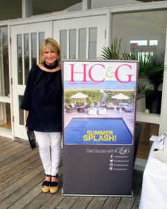 Here I am in front of the HC&G sign showing all its social media handles and tags. Don't forget to follow me too on Instagram @MarthaStewart48 and on Twitter @MarthaStewart.