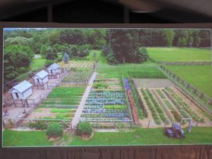 Several slides were shown - this is a drone photo taken of my vegetable garden not too long ago - everything is doing so well this season.