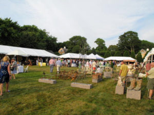 All the dealers were housed in elegant white tents across the Mulford Farm green - the entire area is about three-and-a-half acres.