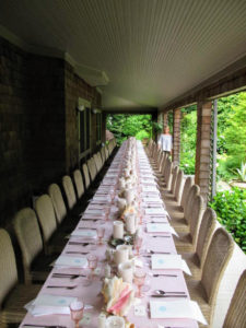 Everything is all set - right on time. Here I am at the back of this long table. I can't wait for the party to start. Be sure to check in again tomorrow to see how it goes!