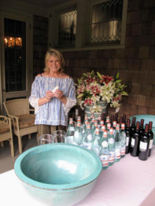 There's a lot to prepare for the big surprise birthday party. Here I am by one of our beverage stations.