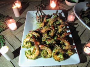 We also served jumbo grilled shrimp.