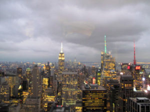 Look at this beautiful view of midtown New York City - taken as the sun began to set.