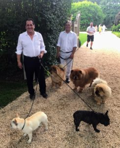 Carlos and Fernando took the dogs for a nice walk before the festivities began.