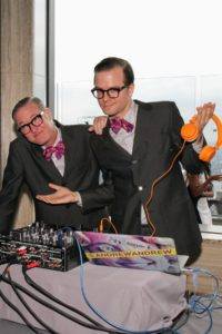 DJ duo AndrewAndrew helped energize the bash. (Photo by Cutty McGill)