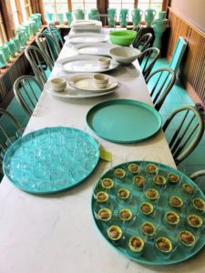 Before any party, big or small, always try to prepare the platters and other dishes ahead of time.