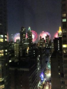On the Fourth of July, Samantha viewed the Macy's Fireworks in New York City, where she is living for the summer.